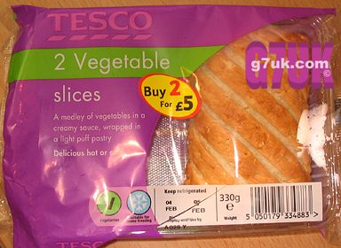 Tesco vegetabvle slices - not so special offer. £1.18 for one, or buy two for £5!