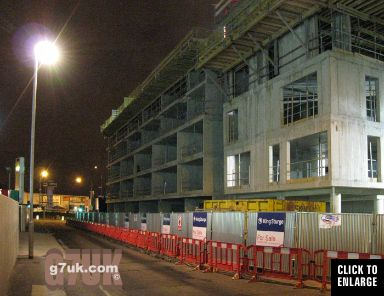New apartments under construction in Laystall Street, Manchester city centre