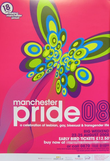 The Manchester Pride 2008 poster
