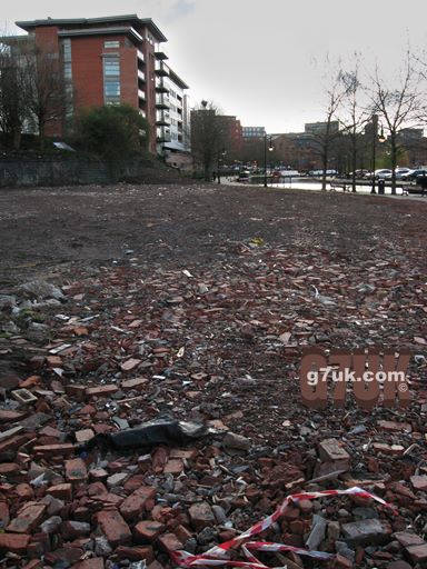 Rubble at Castlefield