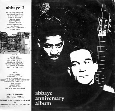 Abbaye Anniversary Album - Gordon Heath and Lee Payant