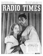 Radio Times front cover showing Gordon Heath in a BBC production of Othello