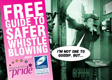 Free guide to safer LGF and Pride whistle blowing. Yes this is a spoof that we made.