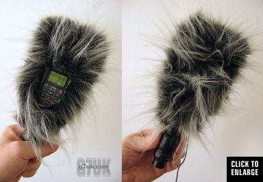 Home-made 'dead cat' windshield for the Zoom H2 portable audio recorder