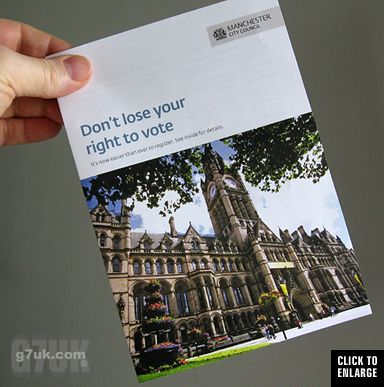 Grass appears in front of Manchester town hall in this City Council leaflet