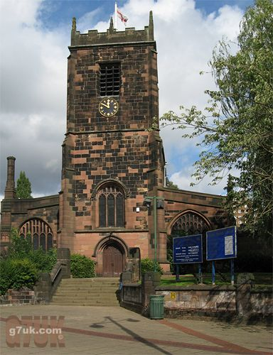 The Parish Church of St. Mary in Eccles town centre