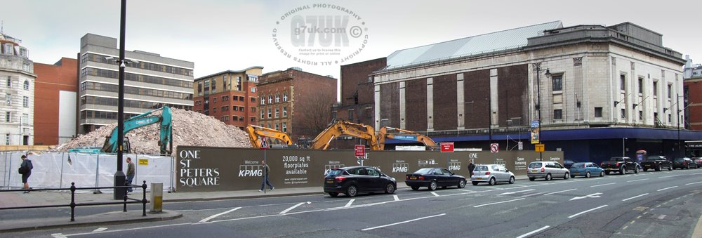 The Corner Of St Peters Square And Oxford Street Manchester Showing