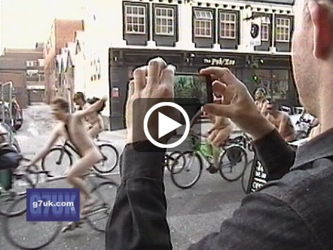 Watch the video of the 2012 World Naked Bike Ride in Manchester