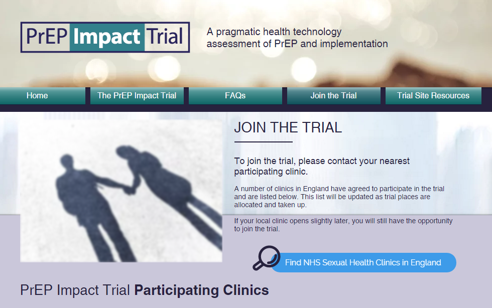 The PrEP Impact Trial website