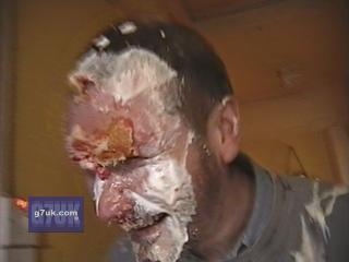 My friend Peter gets a surprise custard pie