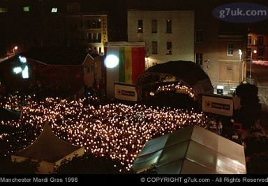 Candlelight AIDS vigil at Manchester Mardi Gras 1998