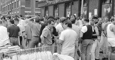 August Bank Holiday Monday 1990 on Canal Street Manchester