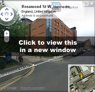 The site of Rosamond Court today on Google Street View