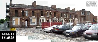 A row of terraced houses stood in the grounds of the Manchester Royal Infirmary until around 2003. It was probably part of January Street.