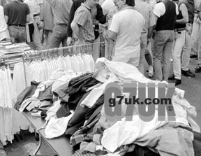 Canal Street jumble sale, August Bank Holiday 1990