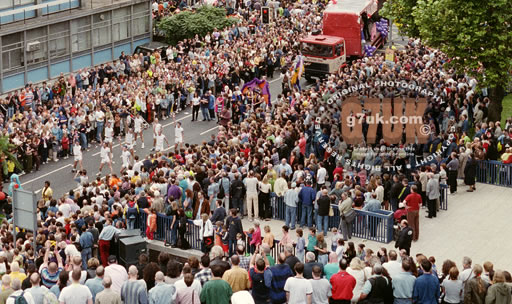 The Manchester Mardi Gras parade in 1998