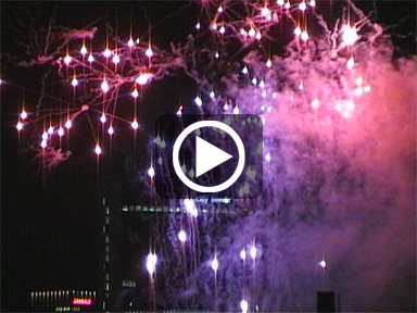 Video of the fireworks display on the last night of Manchester Pride 2011