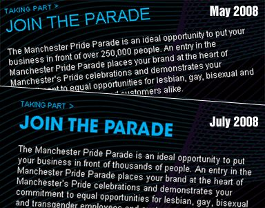 Manchester Pride page edited to change parade crowd figures