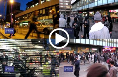 Riots and looting in Manchester city centre