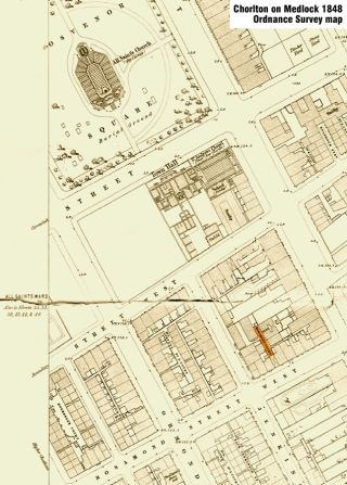 Rosamond Court on the 1848 map
